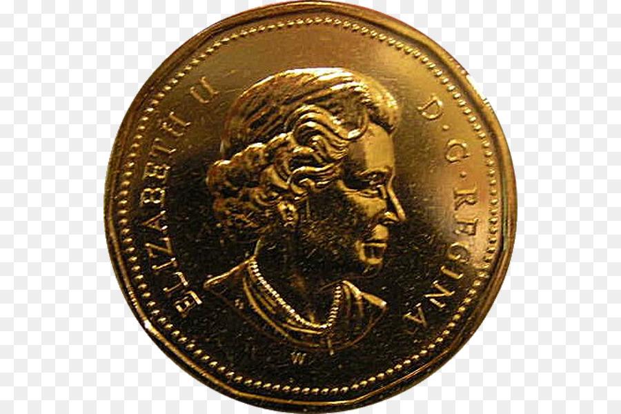 Kanada Dollar Münze Loonie Kanadische Dollar Dollarnoten Png