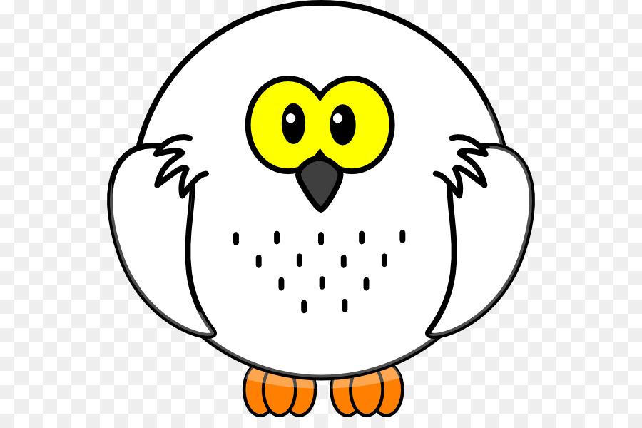 Snowy Owl Hitam Dan Putih Owl Clip Art Kartun Vektor Burung Hantu