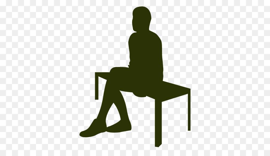 Sitting Silhouette Tabelle Zeichnen Clip Art Business Mann Sitzt