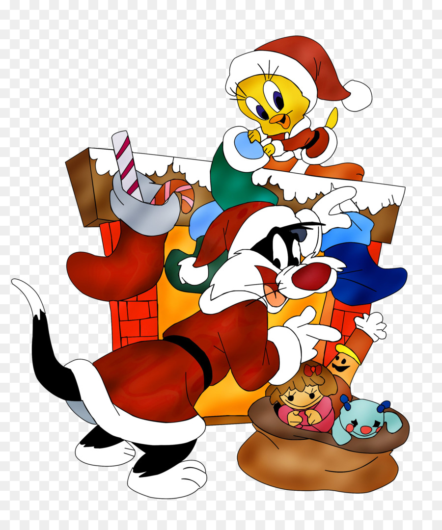 Weihnachten Animation.Tweety Sylvester Bugs Bunny Looney Tunes Weihnachten Cartoon