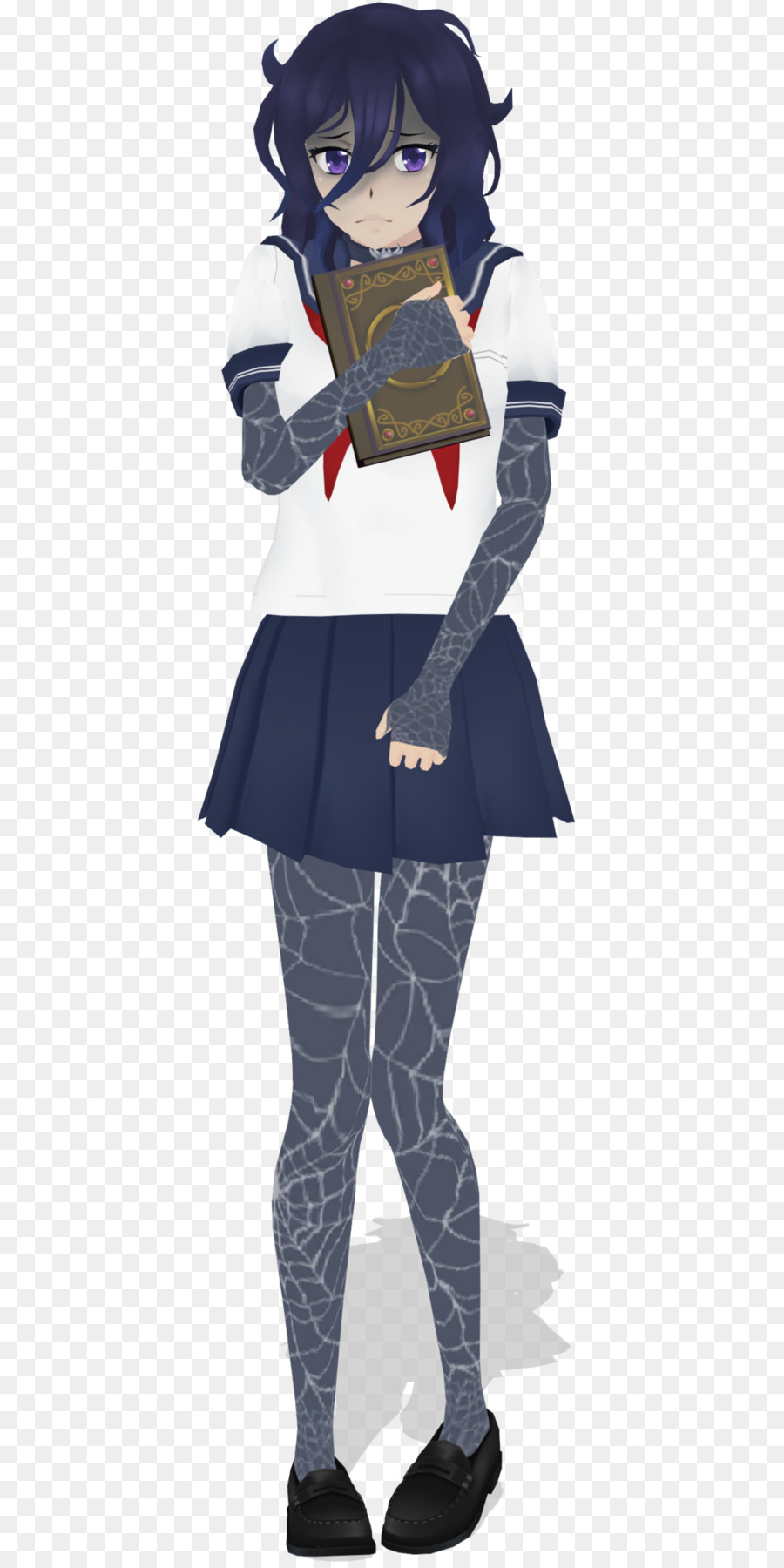 Coloring book Yandere Simulator Character - physics design png ...