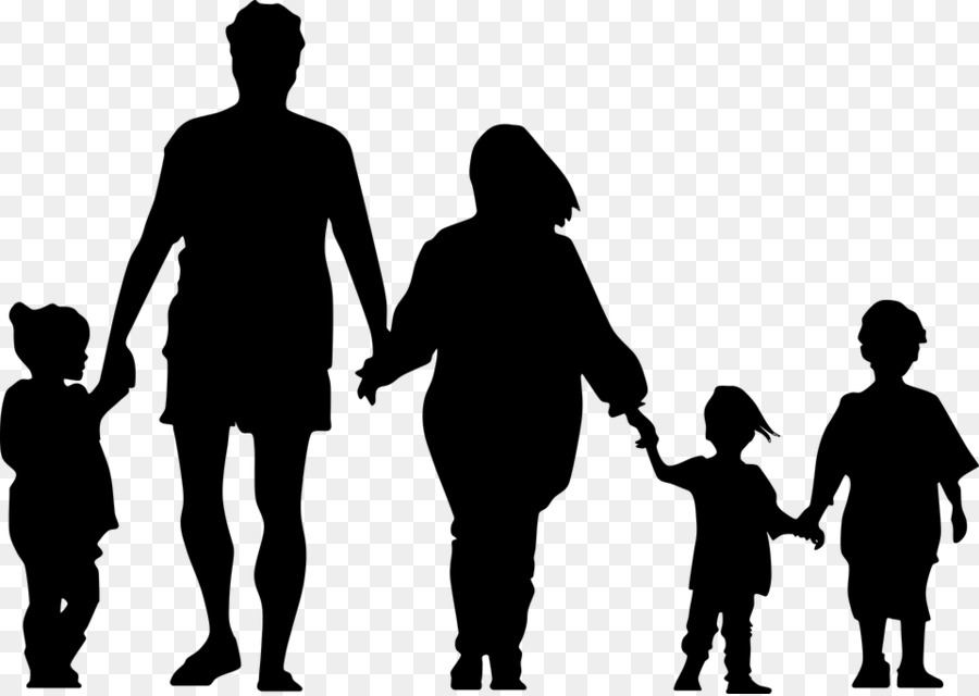 family silhouette holding hands clip art family png download 960