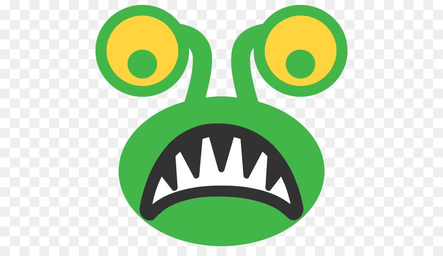 Emoji Goblin Monster Sticker Alien Alien Monster Png Download
