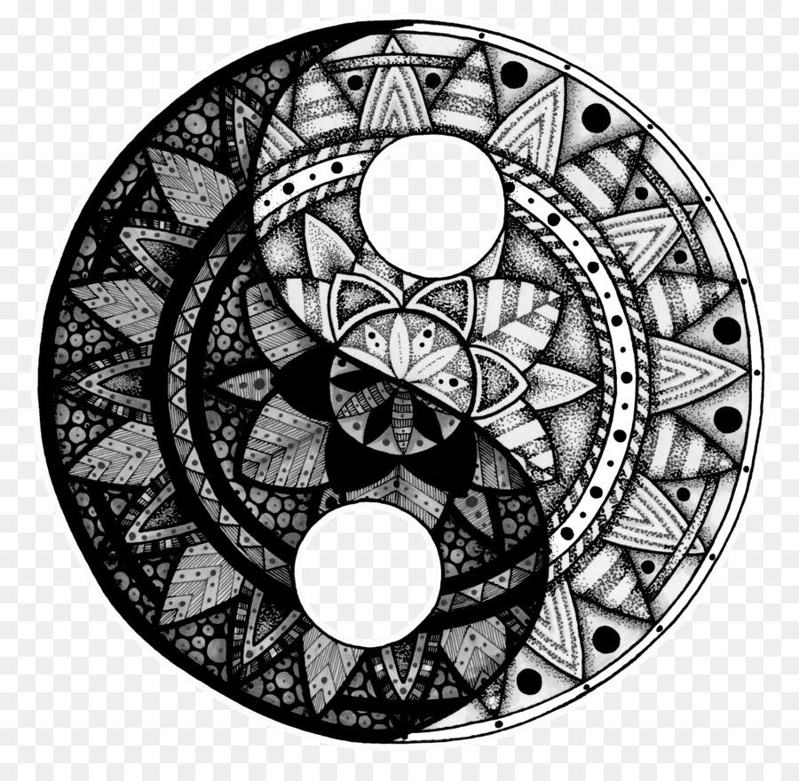 El Yin y el yang Tatuaje Mandala Idea de Dibujo - peces koi yin y el ...