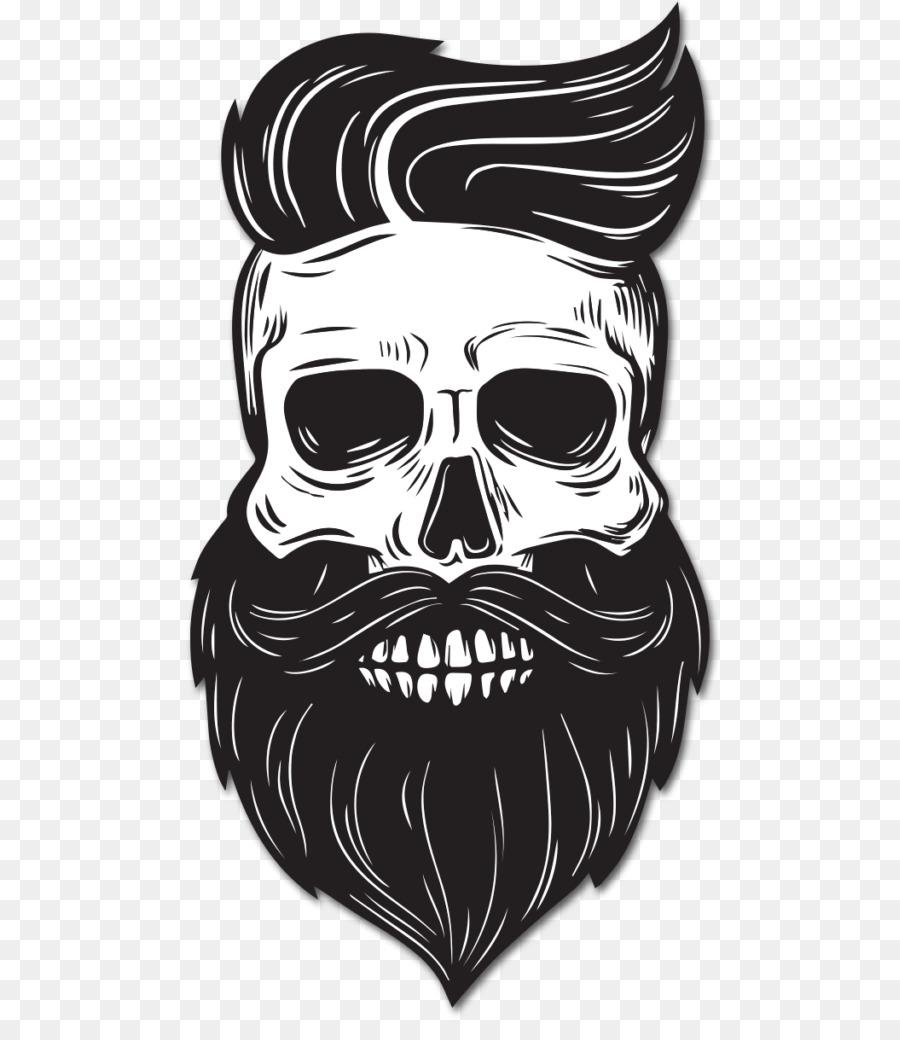 Beard drawing skull facial hair png