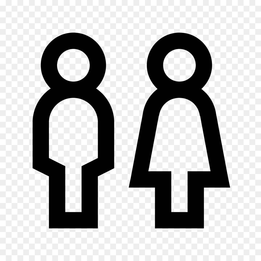 Computer Icons Gender Symbol Male And Female Toilets Png Download