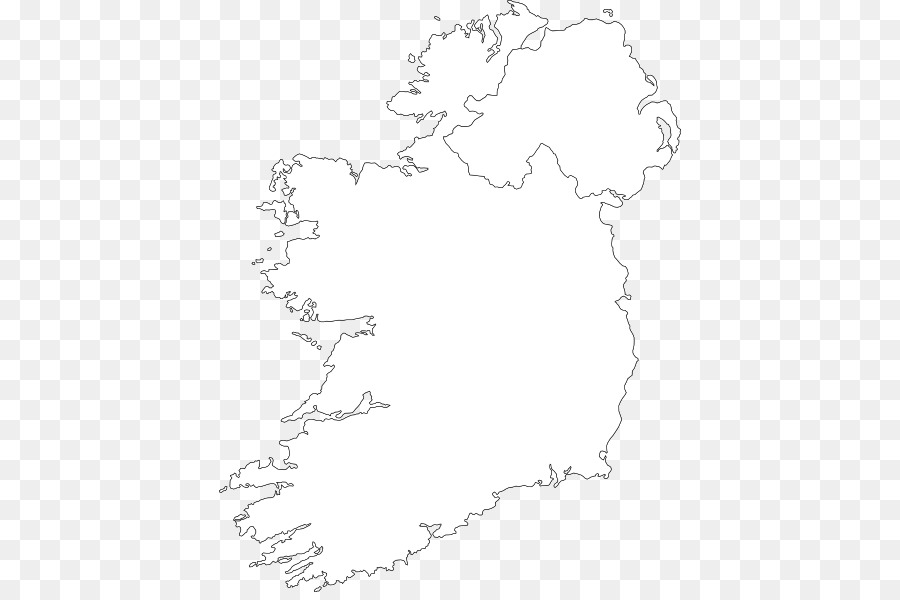 Outline Map Of Ireland.Northern Ireland Blank Map Clip Art Map Png Download 462 592