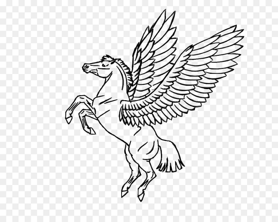 Pegasus Boyama Kitabı Uçan Tek Boynuzlu Atları Pegasus Png Indir