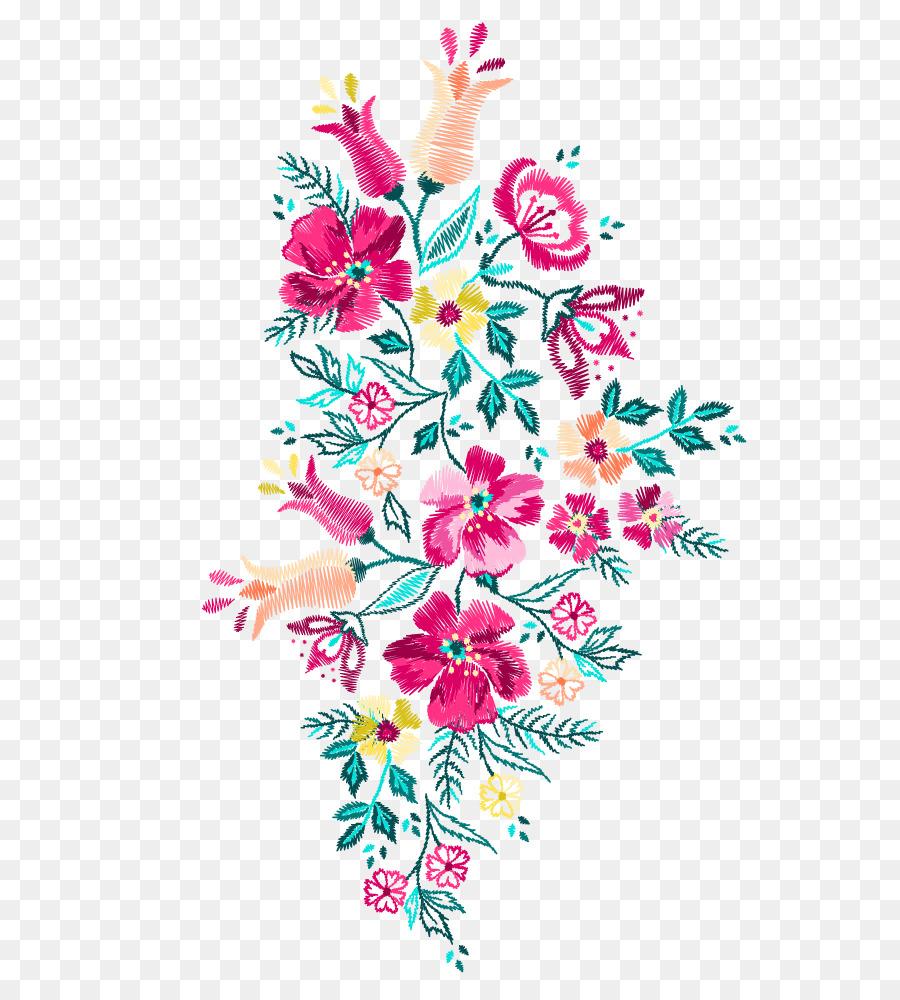 German folk art machine embroidery designs flowers something
