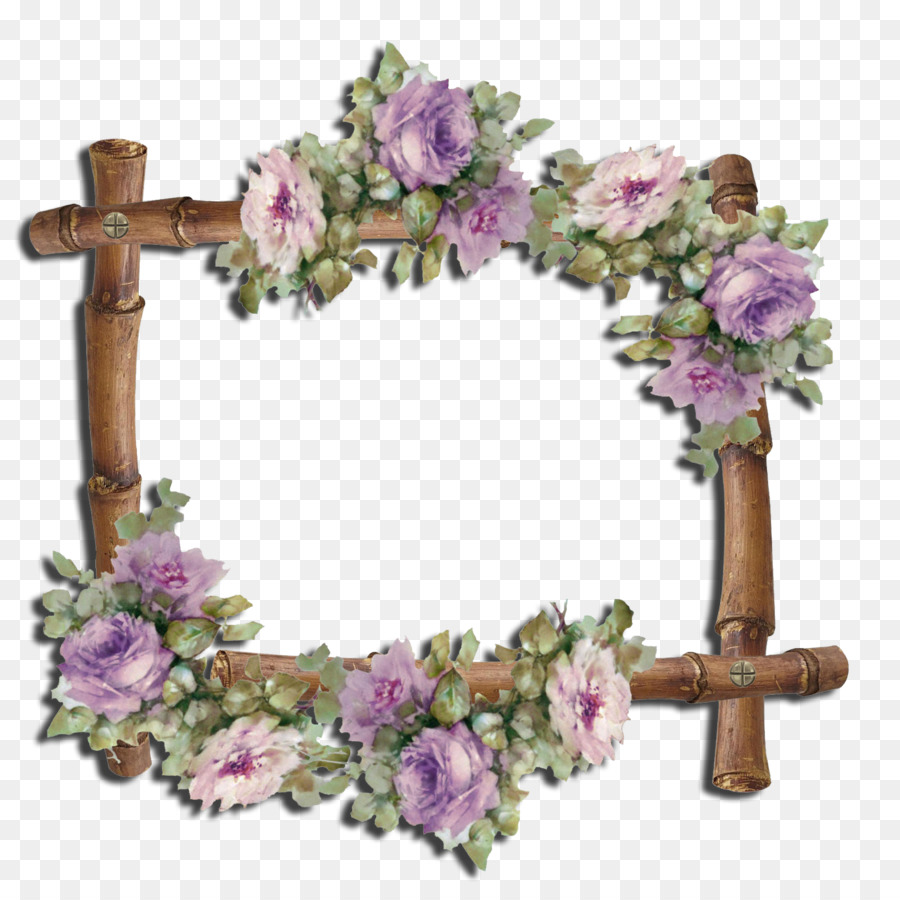 Floral design Paper Picture Frames Decoupage Flower - wisteria frame ...