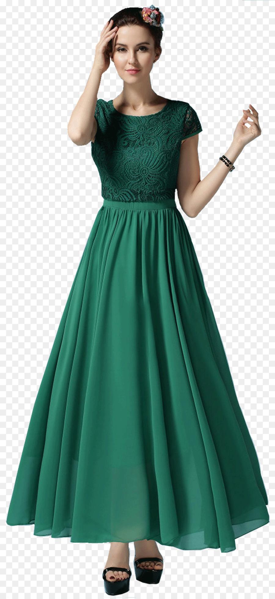 Gaun Sifon Pakaian Atas Rok Lipit Unduh Bahu Pinggang Tunik