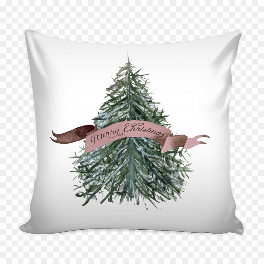 Throw Pillows Mug Bed Couch - watercolor christmas tree yellow ...