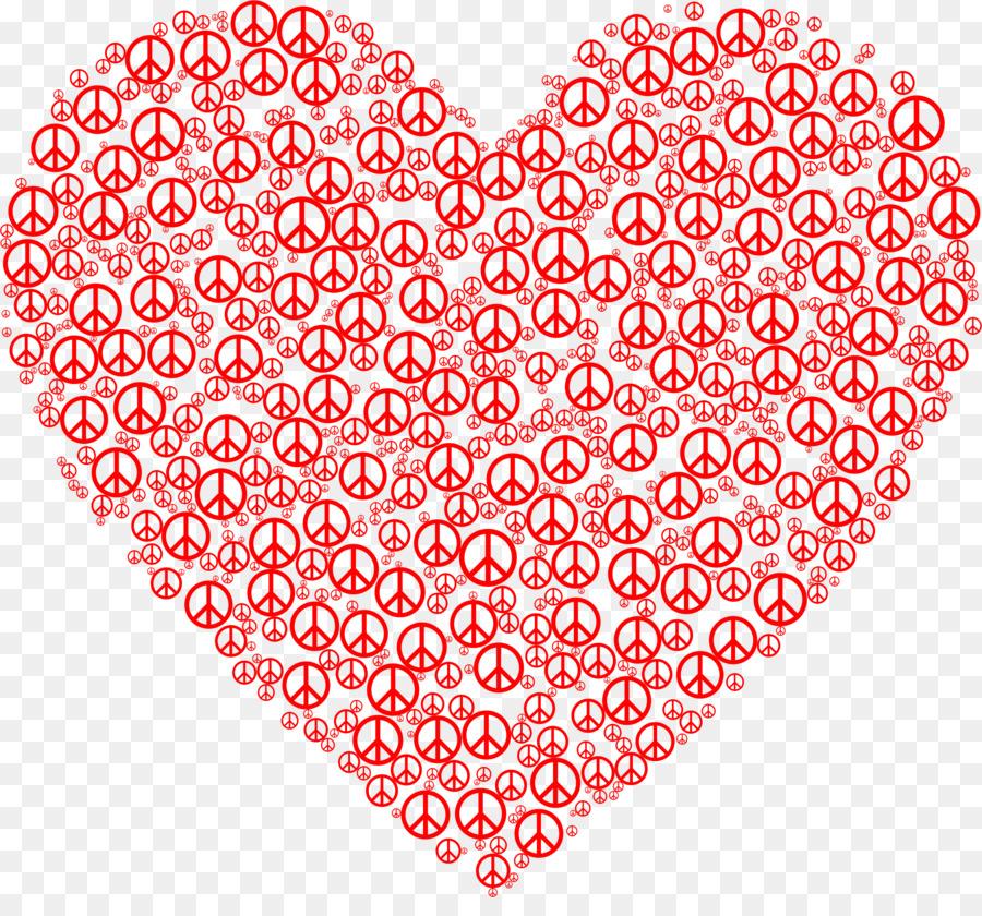Peace Symbols Heart Sign Symbol Png Download 23502148 Free