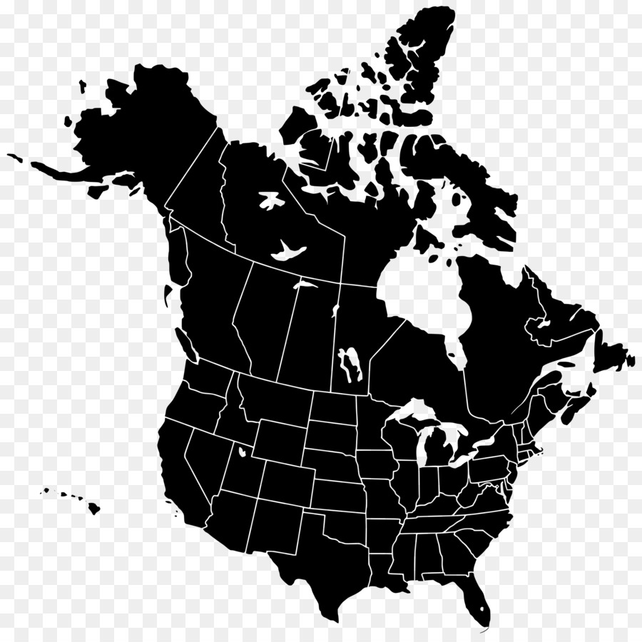 United States Canada Blank Map Clip Art United States Png Download