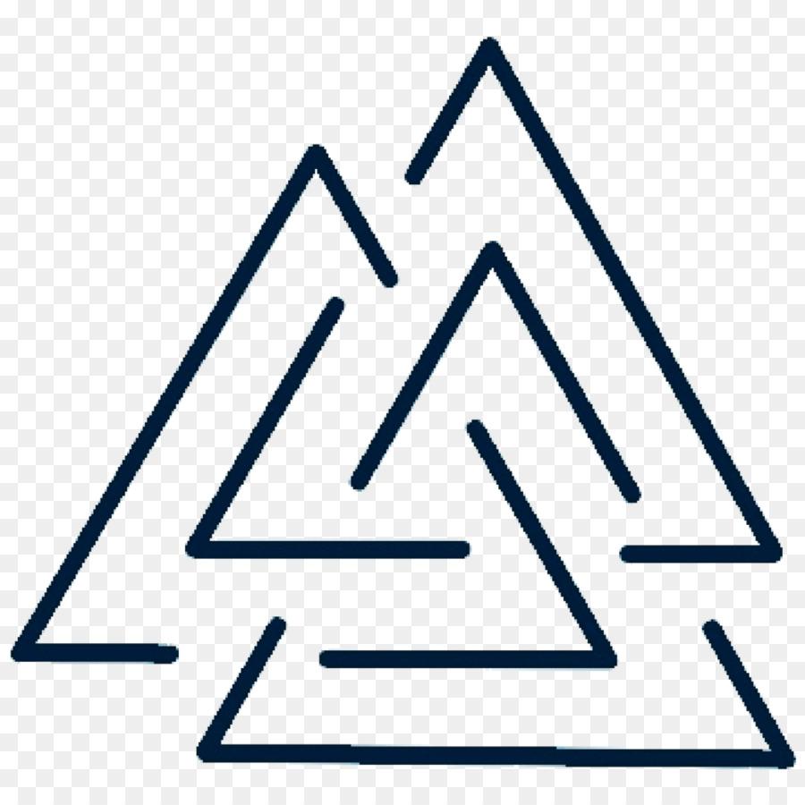 Valknut Tattoo Symbol Odin Geometry Symbol Png Download 1000