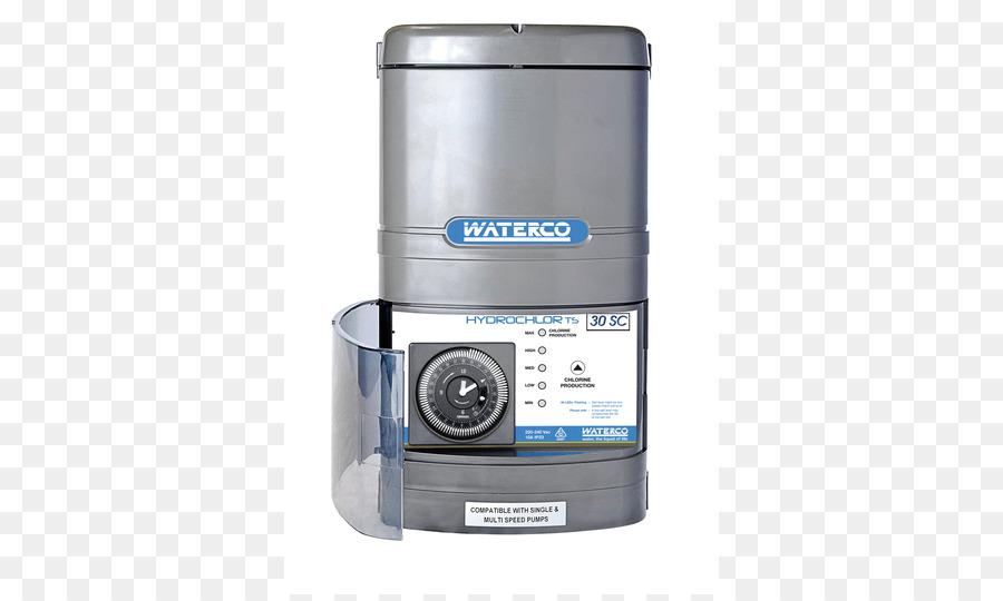 Salt water chlorination Swimming pool Sodium chloride - water timer ...