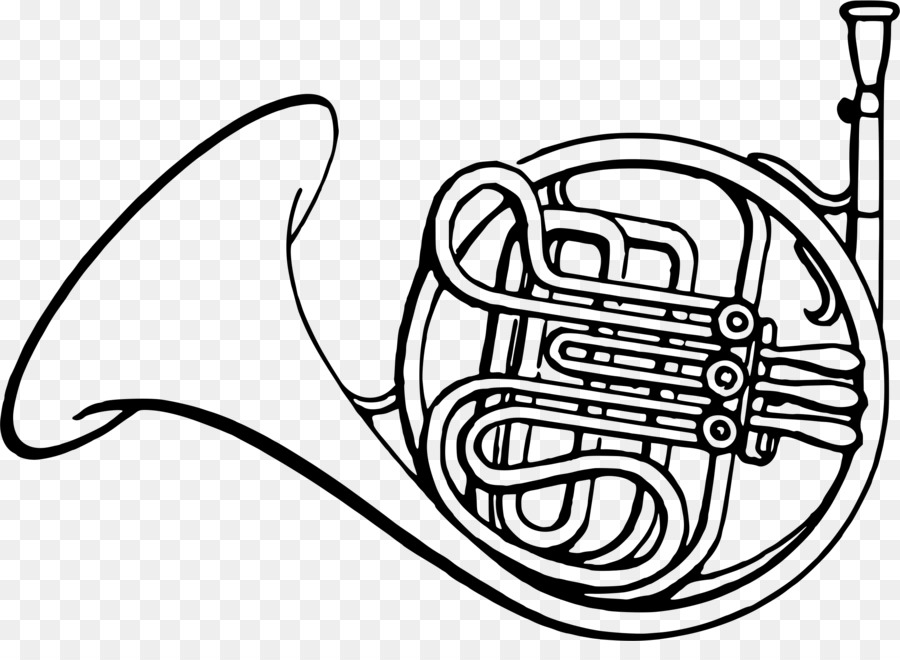 french horns drawing coloring book clip art french horn png rh kisspng com french horn clipart free Trombone Clip Art