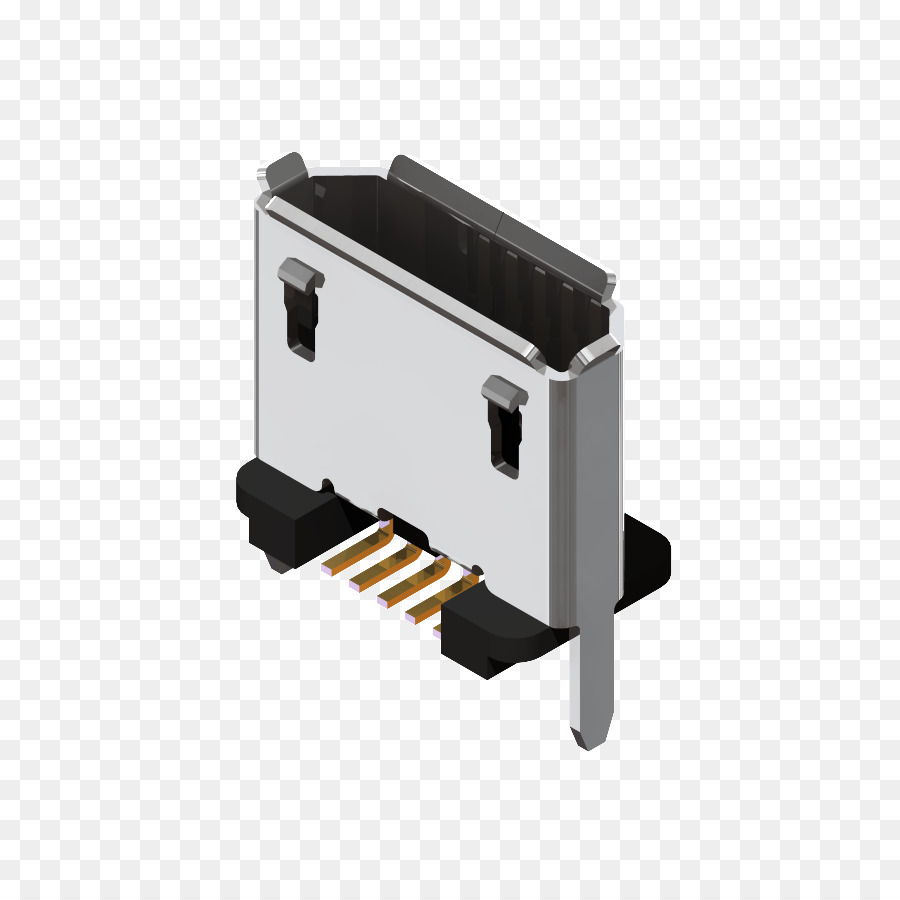 Micro Usb Electrical Connector Surface Mount Technology Through Hole Circuit Board Female Card