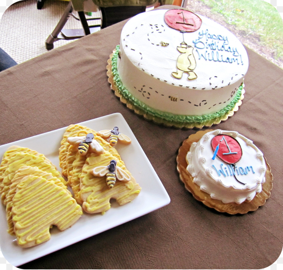 Winnie The Pooh Birthday Cake Party Creative Cakes Png Download