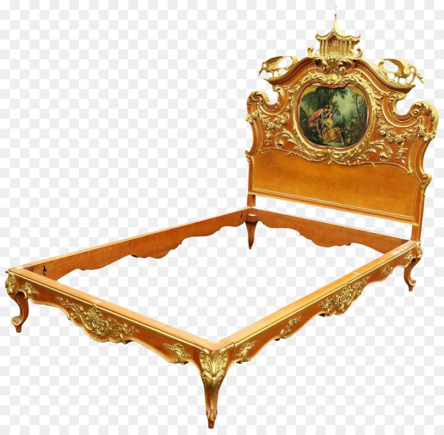 Dormitorio marco de la Cama con Cabecero tallado en Madera - tallada ...