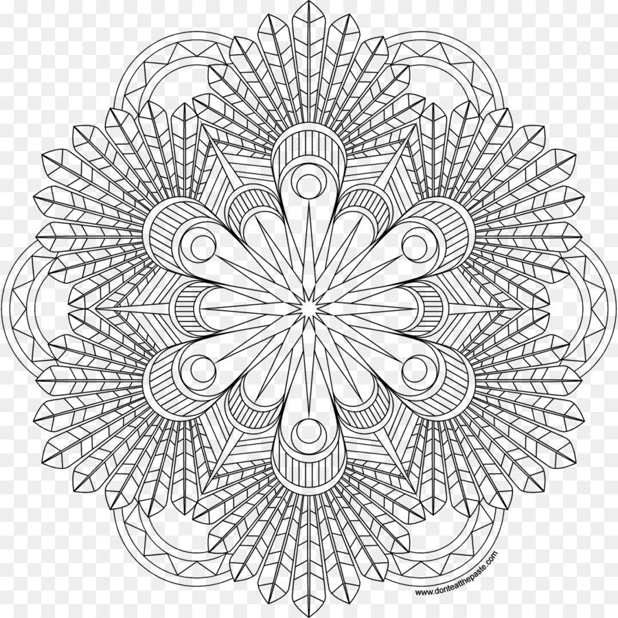 Mandala Boyama Kitabı çizim Siyah Ve Beyaz Içi Boş Mandala Png