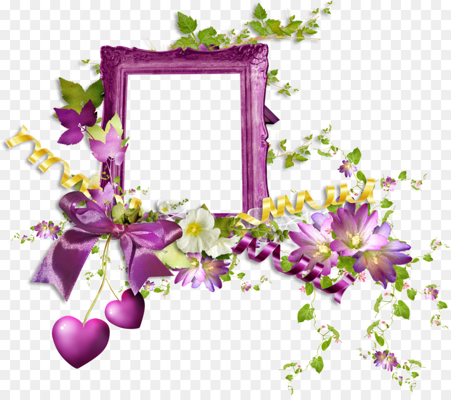Background Flowers Frame png download - 2200*1941 - Free