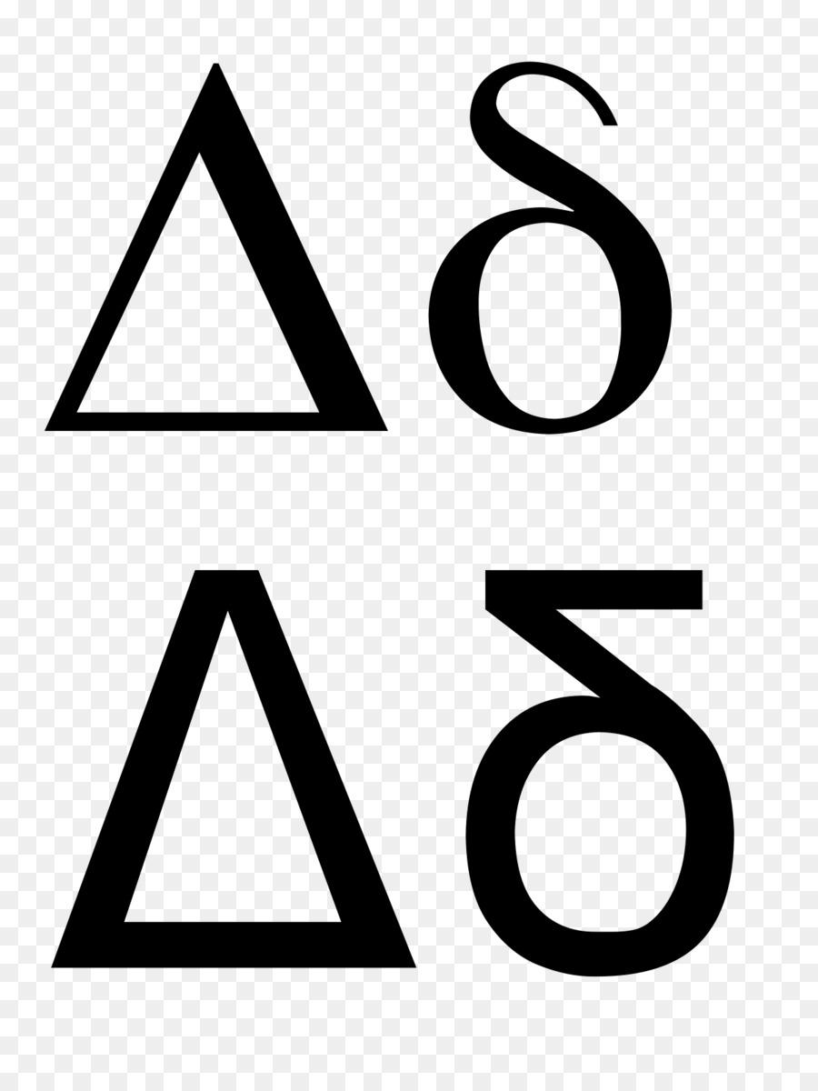Delta Symbol Greek Alphabet Letter Sign Symbol Png Download 1200