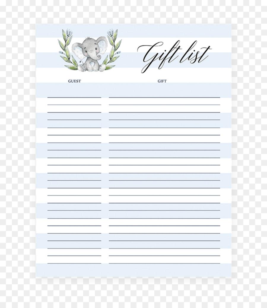 Wedding invitation Paper Baby shower Gift registry Letter - baby ...