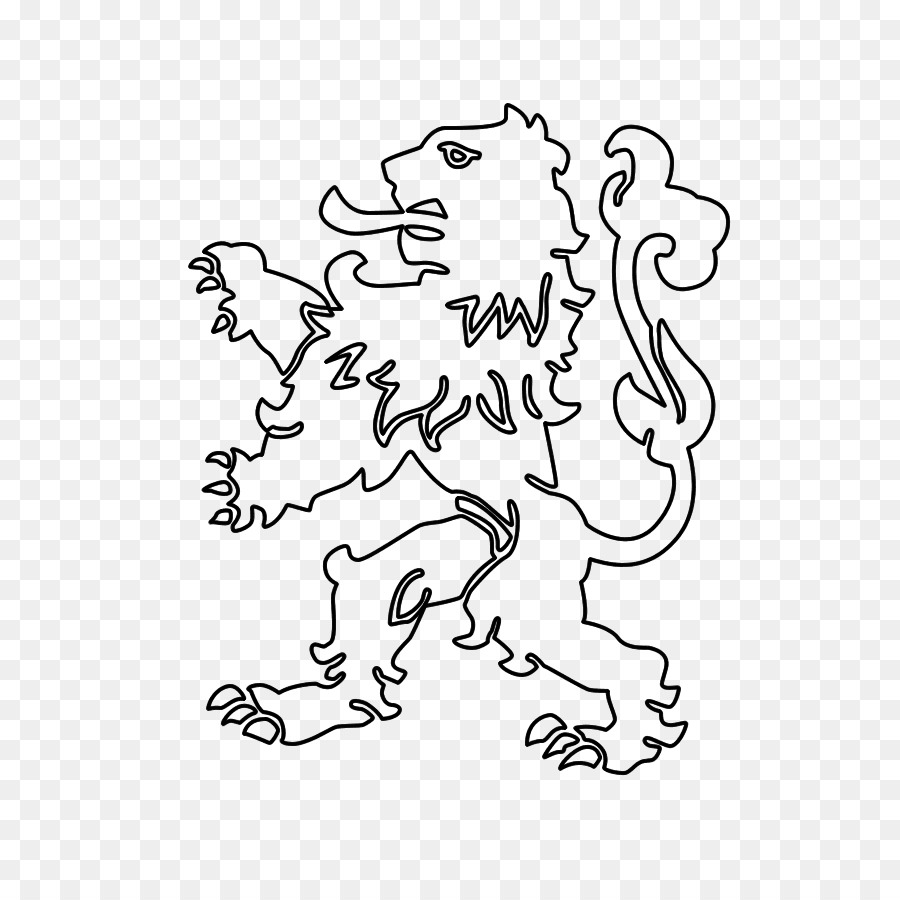 Netherlands Drawing Lion Nederlandse Leeuw Kleurplaat