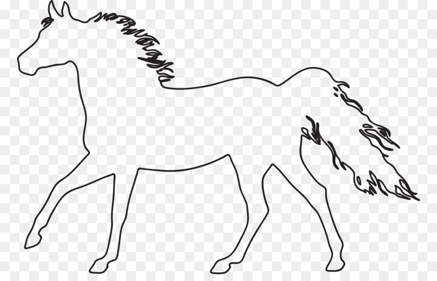 Konik Zeichnung Arabian Pferd Horse Clip Art Silhouette Png