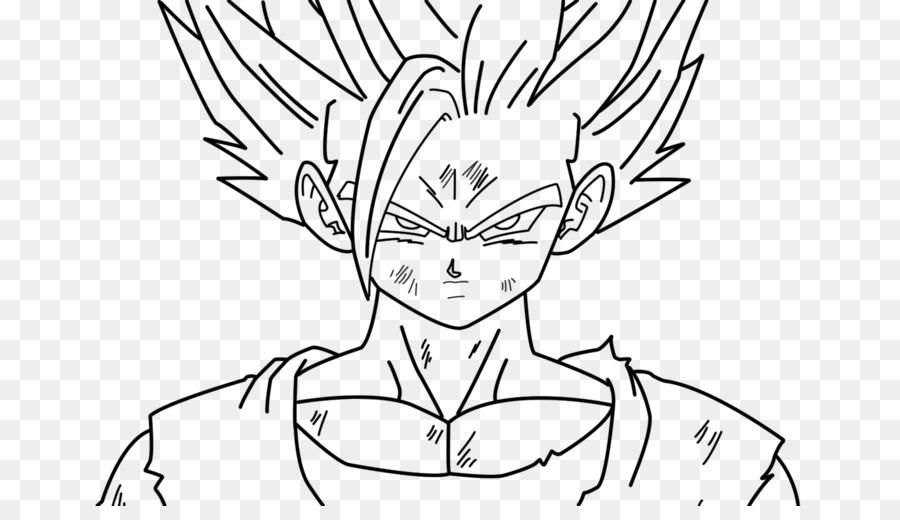 gohan goku black and white line art drawing goku png download