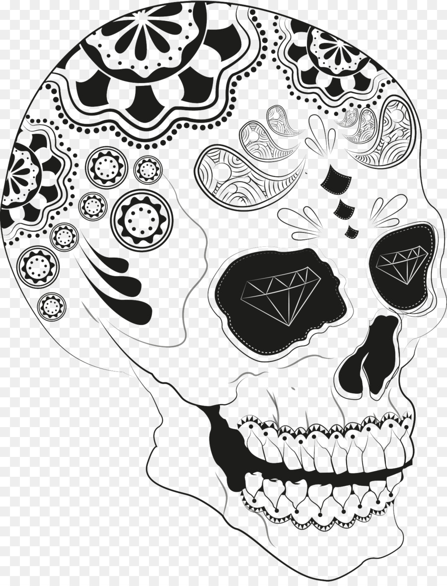 skull black and white calavera jaw animal skull png download