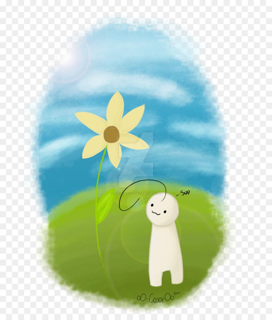 Fondo De Escritorio De Dibujos Animados De Flores De Energia Nubes