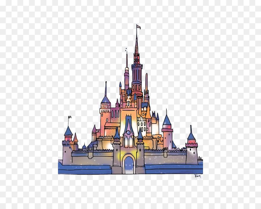 Sleeping Beauty Castle Magic Kingdom Cinderella Drawing Art