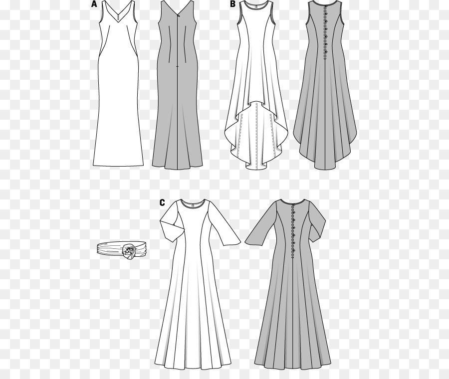 Burda Style Dress Evening gown Sewing Pattern - kimono pattern png ...