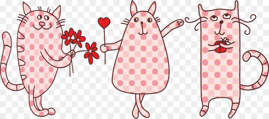 Cat Valentines Day Heart Clip Art Birthday Card Template Png