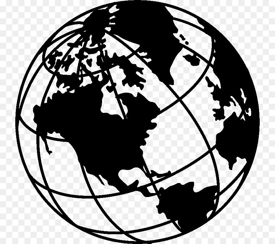19e78e9e86 Globe Earth Black and white Drawing Clip art - mural clipart png ...
