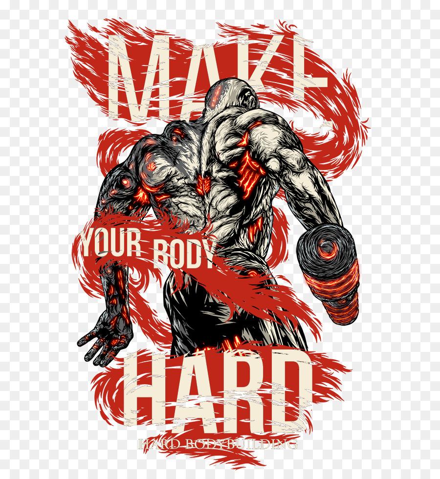 Culturismo femenino Logotipo de Arte de diseño Gráfico - bodybuild ...