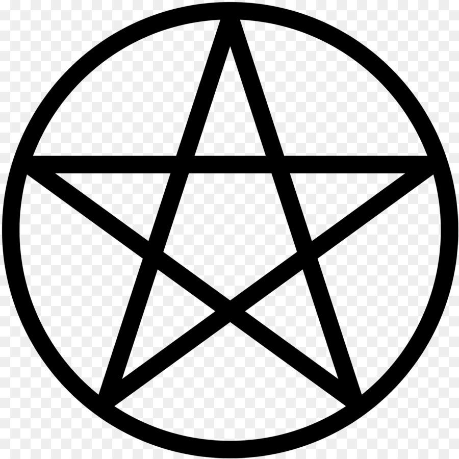 Pentacle Pentagram Wicca Witchcraft Symbol Symbol Png Download