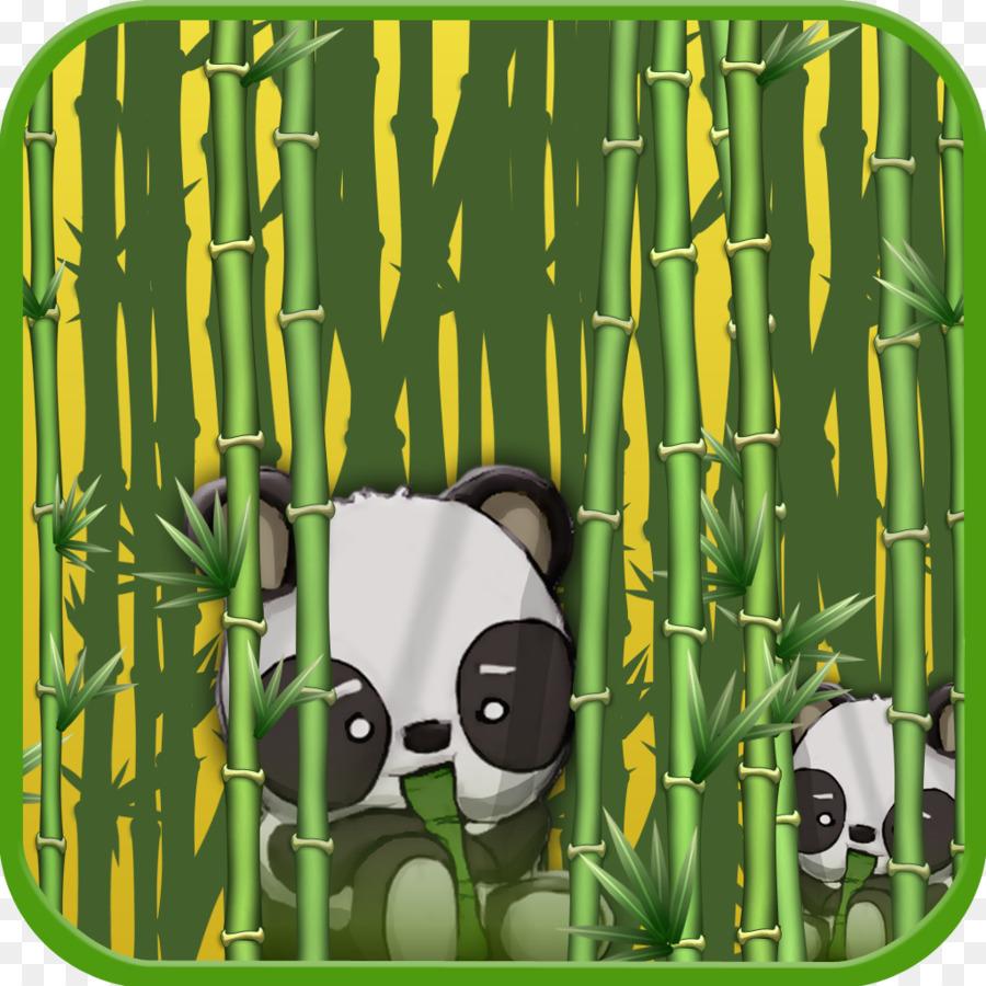 Cartoon Grunen Grasern Schriftart Bambus Wald Png Herunterladen