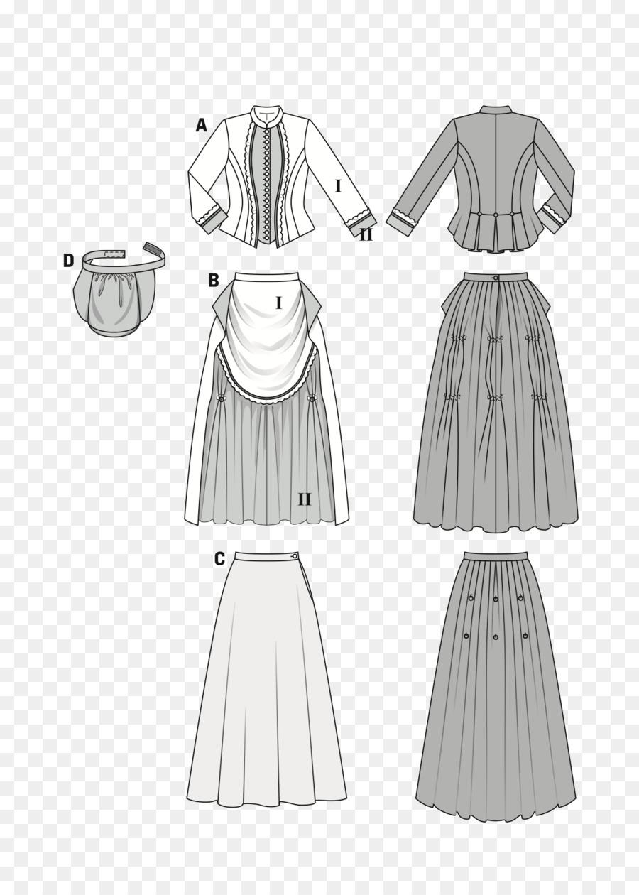 Burda Estilo De Vestido De Costura De Vestuario Patrón - modelo de ...