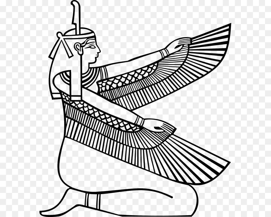 Los dioses del antiguo egipto Maat libro para Colorear Diosa - Diosa ...