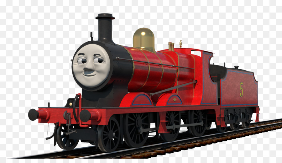 Thomas James The Red Engine Rail Transport Tank Locomotive