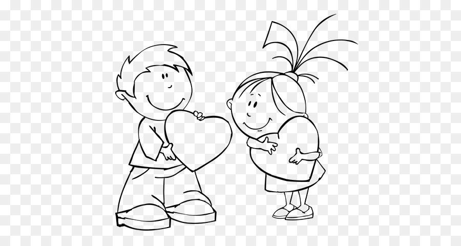Libro para colorear de san Valentín el Día del Amor 14 de febrero de ...