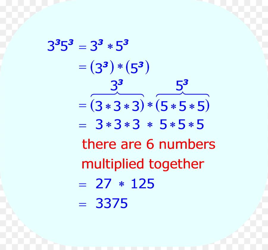 Exponentiation Multiplication Number Expression Formula ...