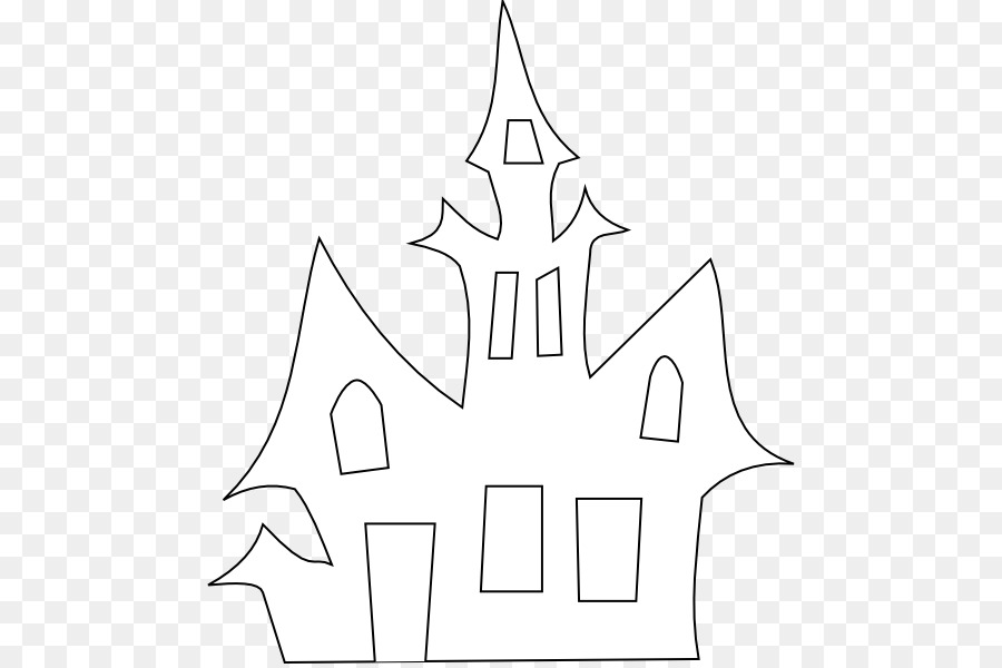 Haunted House Halloween Silhouette Clip Art