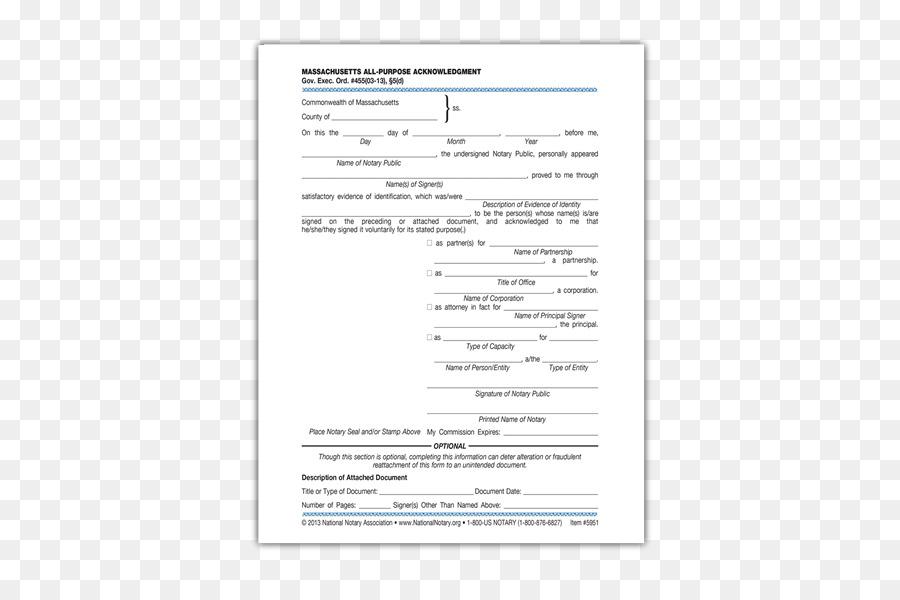 Acknowledgment Document Notary public Form - representative ...