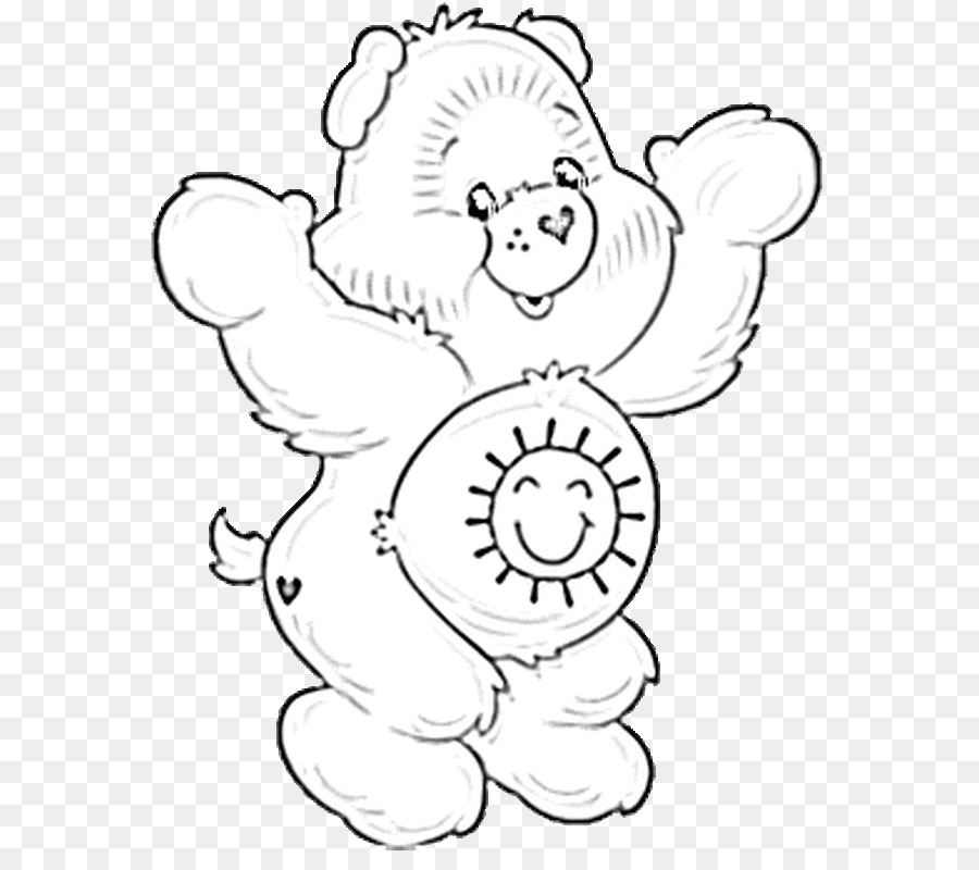 Funshine Bear Giant panda Care Bears Coloring book - bear png ...