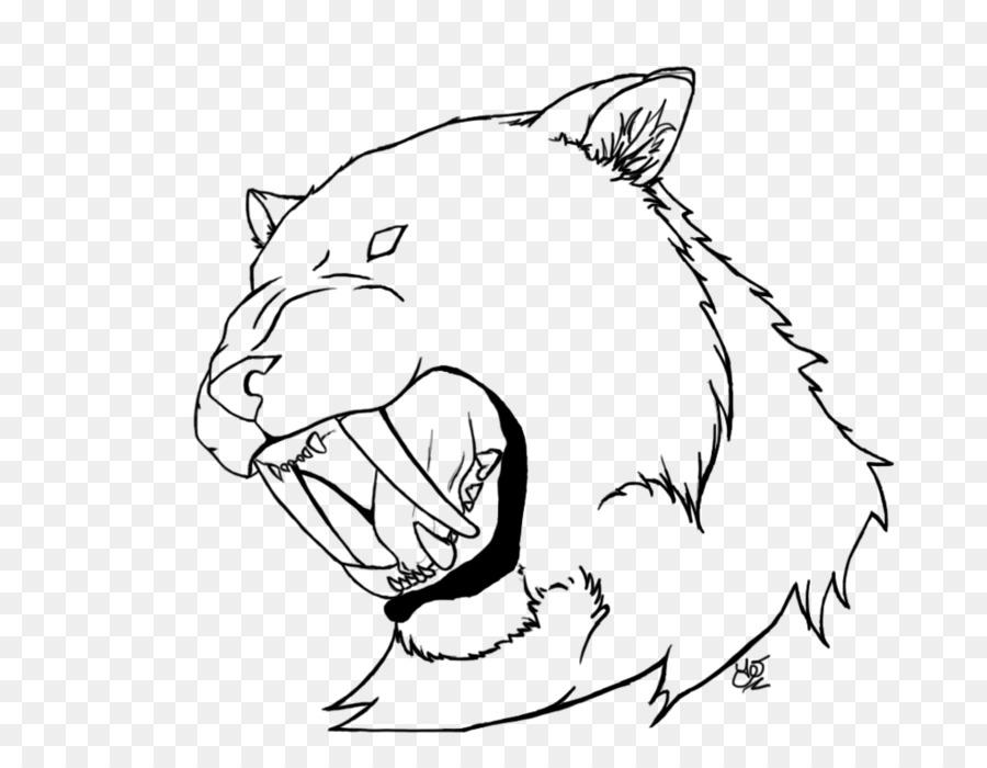 Tigre dientes de sable dientes de sable dientes de Sable gato Dibujo ...