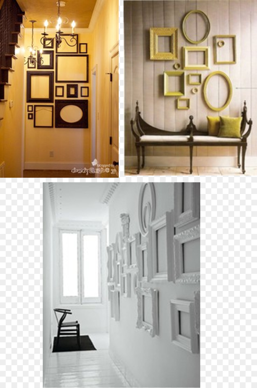 Collage Picture Frames Mirror Wall